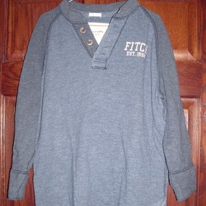 Abercrombie & Fitch Blue Large Mid Sleeve Shirt